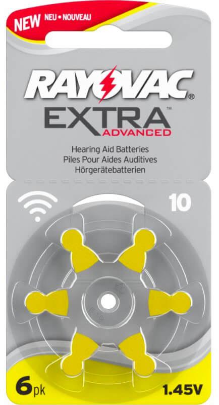 Batterie-apparecchi-acustici-rayovac-10-giallo